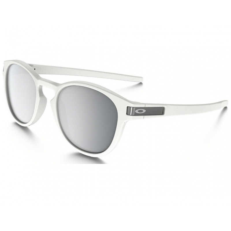 Oakley Latch - Matte White / Chrome Iridium - OO9265-16 Zonnebril