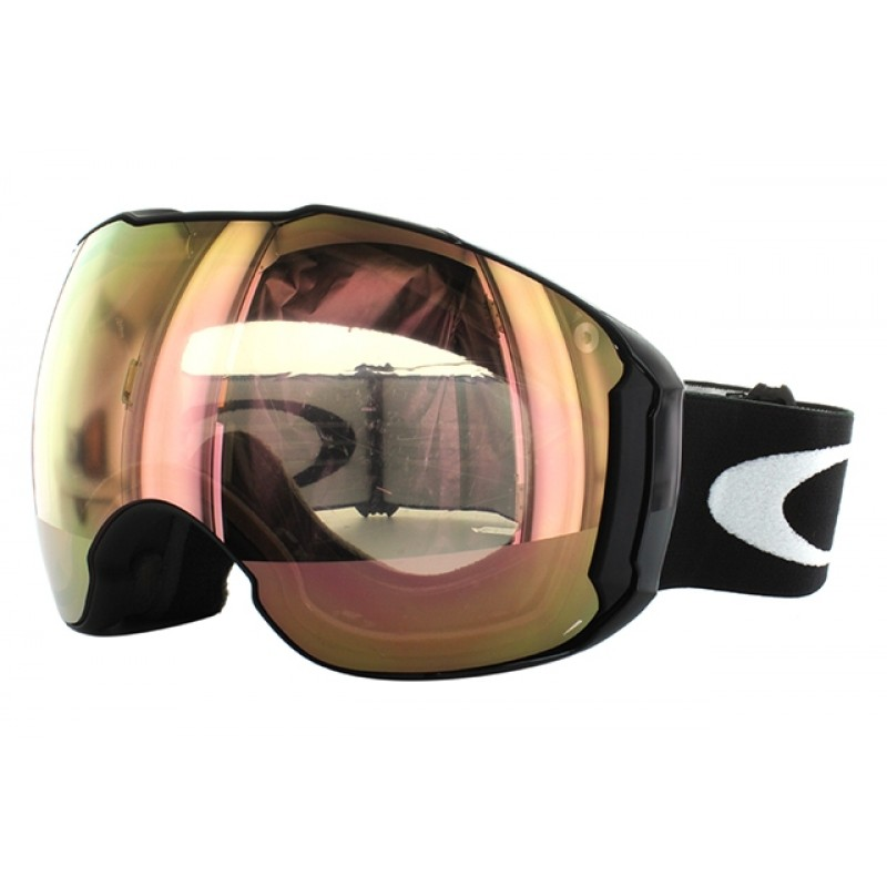Oakley Airbrake XL (Asian Fit) Matte Black / VR50 Pink Iridium & Persimmon - OO7078-03 Skibril