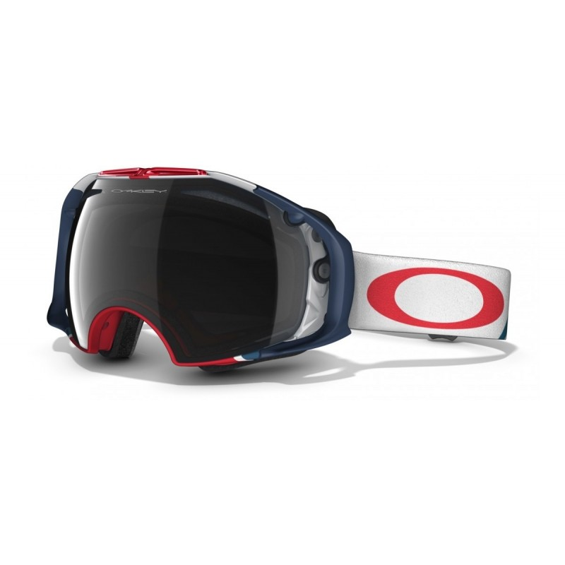 Oakley Airbrake Flight Series - Dark Grey & HI Persimmon - 59-485 Skibril