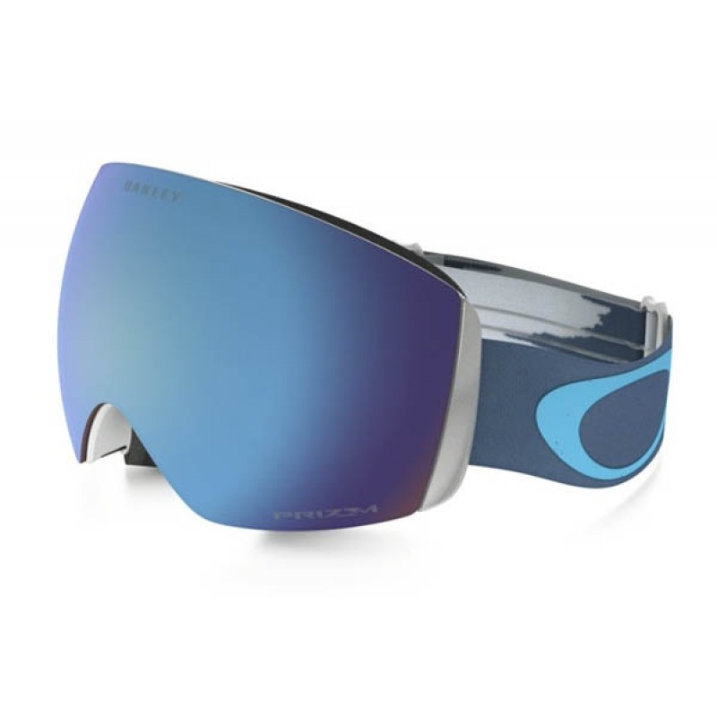 Oakley Flight Deck XM (Asian Fit) - Wet Dry Green Blue / Prizm Snow Sappire Iridium OO7079-09 Skibril