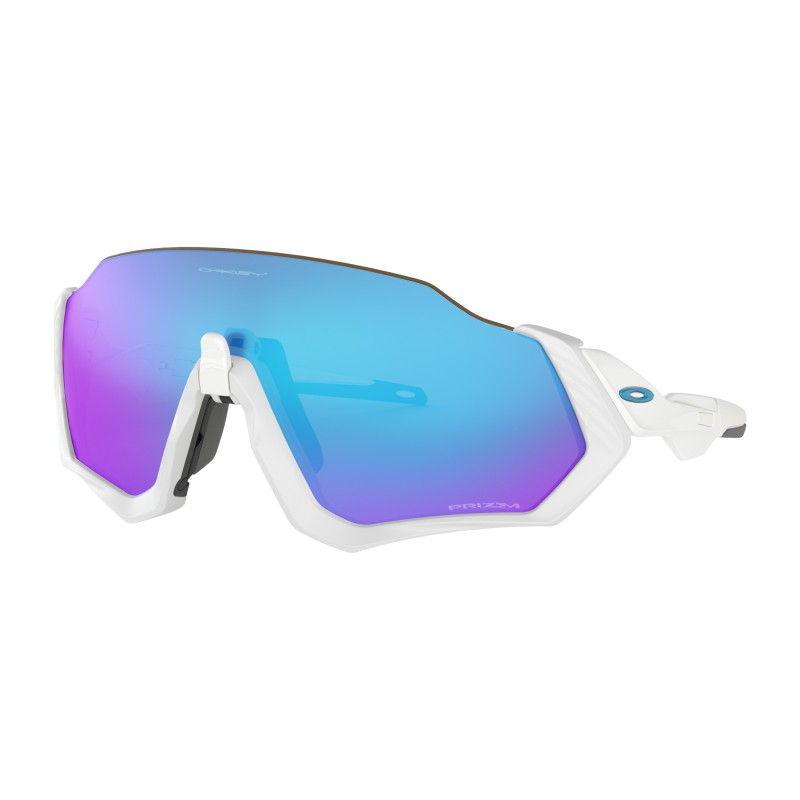 Oakley Flight Jacket Polished White Prizm Sapphire - OO9401-0237