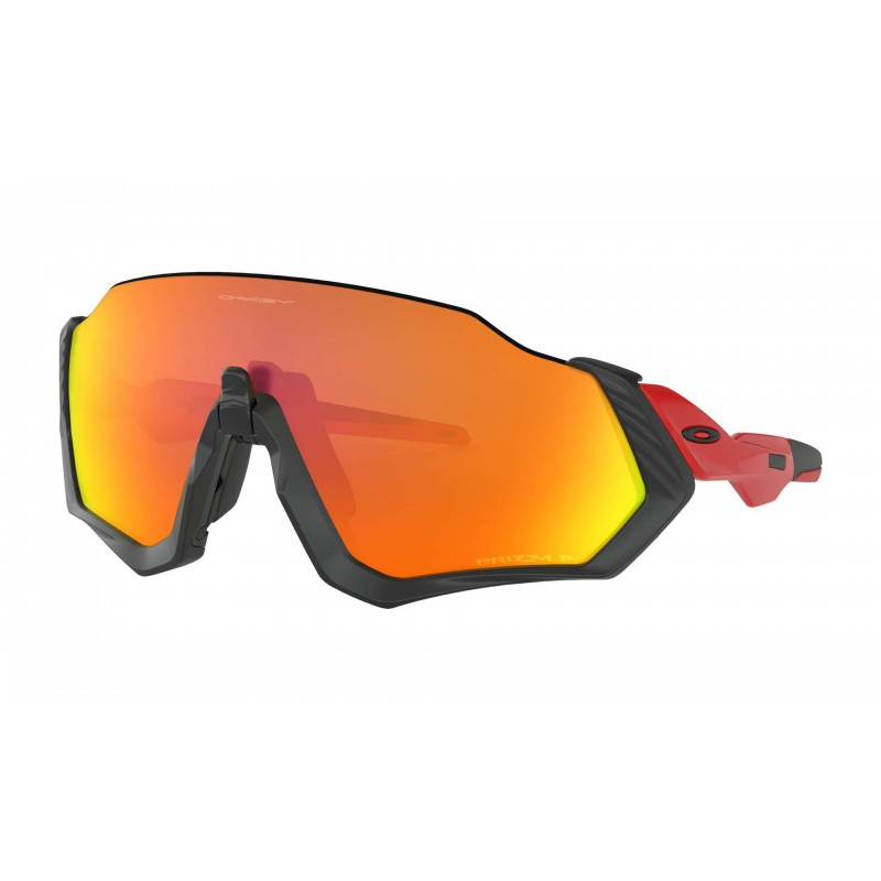 Oakley Flight Jacket Matt Black Redline / Prizm Ruby Polarized