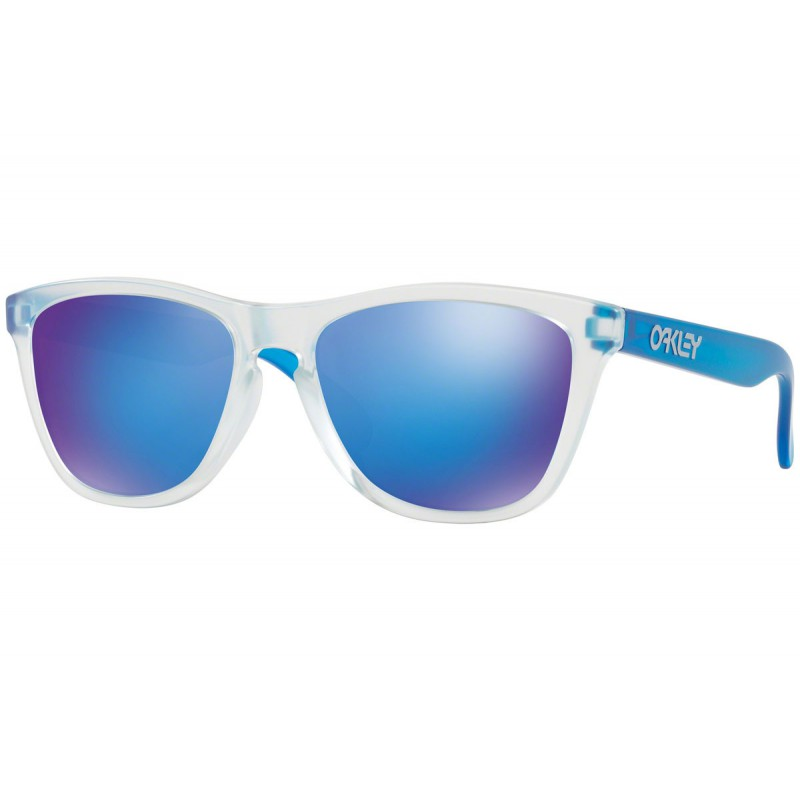 Oakley Frogskins (Asian Fit) Matte Clear + Sapphire Iridium OO9245-51