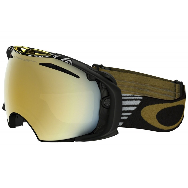 Oakley Airbrake Shaun White Signature Series Black Gold - 24K Iridium & Persimmon OO7037-04 Skibril