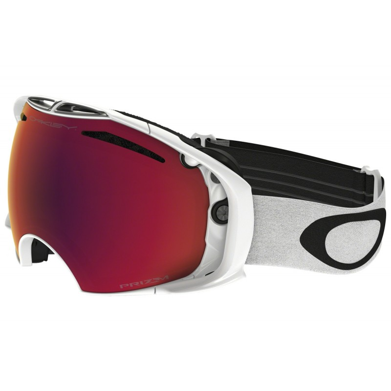 Oakley Airbrake - Polished White / Prizm Snow Torch Iridium & Prizm Snow Rose - OO7037-41 Skibril