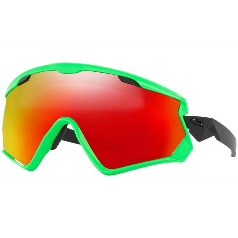 Oakley Wind Jacket 2.0 80's Green + Prizm Snow Torch Iridium OO7072-04