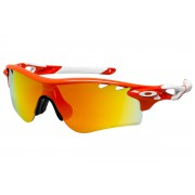 Oakley Radarlock Path (Asian Fit) Blood Orange + Fire Iridium Polarized