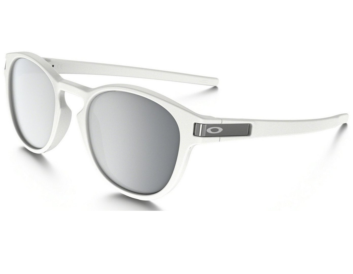 de0a2e3f55b Oakley Latch - Matte White   Chrome Iridium - OO9265-16 Zonnebril ...